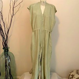Linen Jumpsuit Anthropologie Cloth & Stone S